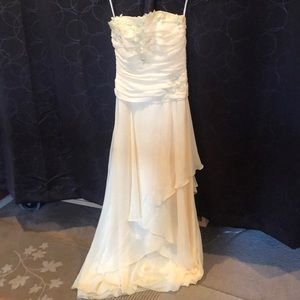Yellow strapless prom / formal / homecoming dress